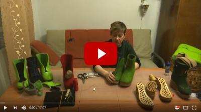 М.Климчук. Практический курс обучения сваливаемости разных сортов шерсти, укрепление - армирование валяной обуви с помощью марли на USB-флешке
